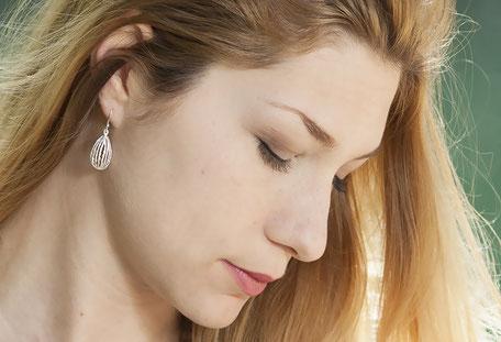 boucles d'oreilles creation argent massif itsara