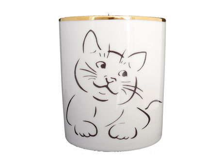 Bougie Chat Porcelaine