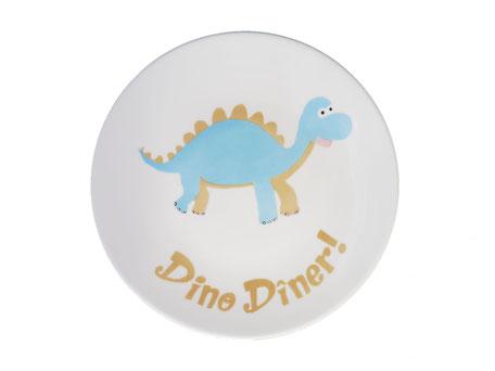 Assiette enfant personnalisée dinosaure porcelaine