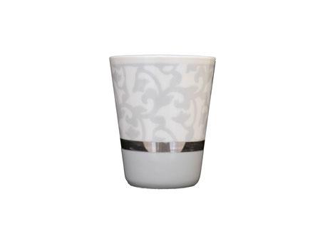 Nara Porcelaine - Trianon Gobelet Pot à Crayon Photophore Gris Argent