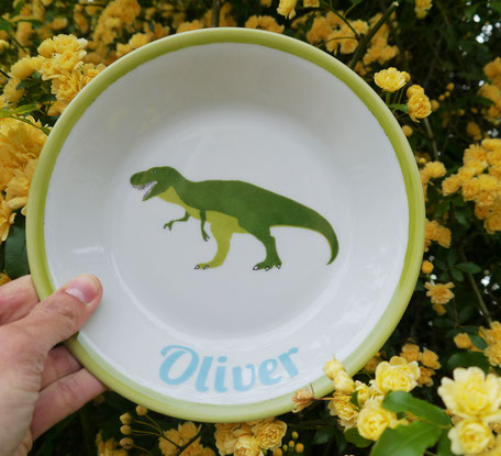 Assiettere creuse dinosaure porcelaine