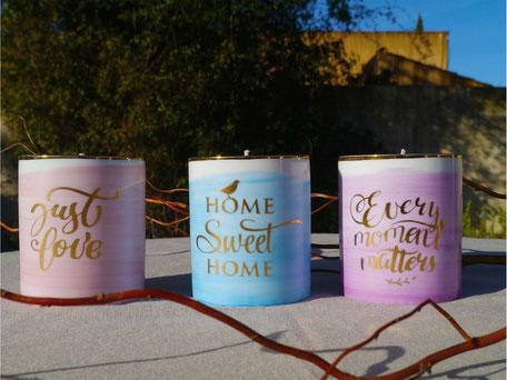Bougies parfumées à la fraise Saint Valentin Nara Porcelaine