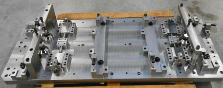 Fabrication et assemblage d'un montage d'usinage destiné à la reprise de pièces pour l'aéronautique.