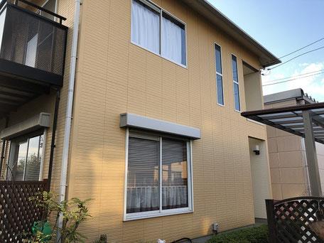 さいたま市岩槻区の戸建住宅、足場、外壁塗装、屋根塗装工事前の写真