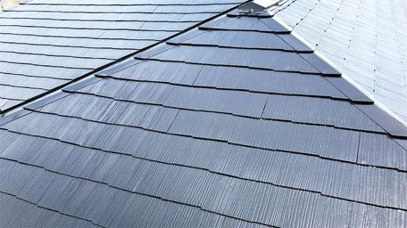春日部市の戸建住宅、屋根塗装工事完了の写真
