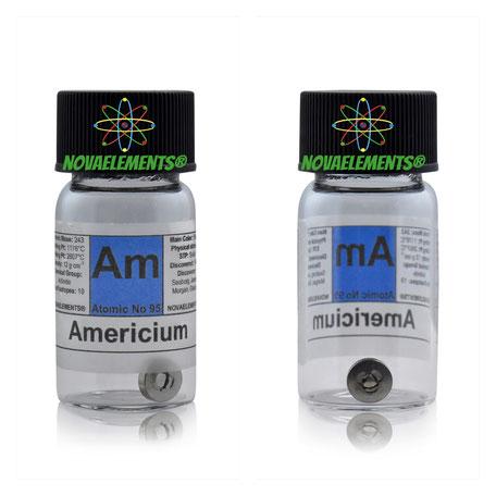 americio metallico, americio elemento, americio metallo, americio elementare, americio campione da collezione, Am241