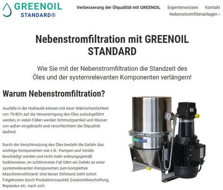 Webseite www.greenoil-tech.de