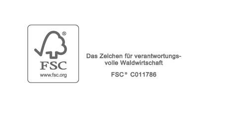 Fragen Sie gerne nach unseren FSC®-zertifizierten Produkten.