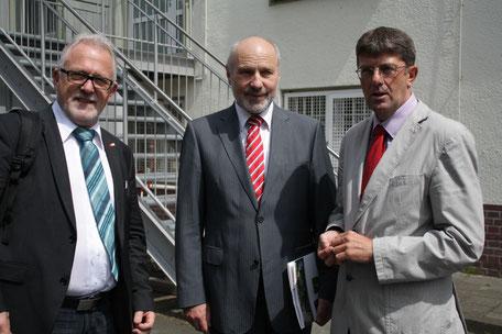 Im Gespräch mit Wolfgang Hellmich MdB ( Vorsitzender des Verteidigungsausschusses des Deutschen Bundestages) und Rainer Arnold MdB (Verteidigungspolitischer Sprecher der SPD-Bundestagsfraktion)