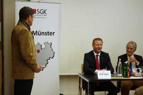 Auf Einladung von Thomas Marquardt besuchte NRW Innenminister Ralf Jäger Münster, um mit Fachleuten über die Sicherheitslage in Münster zu diskutieren