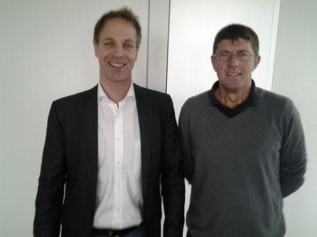 Thomas Marquardt im Gespräch mit Sebastian Fiedler, dem Vorsitzenden des Landesverbandes NRW des Bundes Deutscher Kriminalbeamter