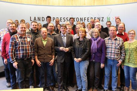 Die Personalvertretung der Stadt Münster besucht Thomas Marquardt im Landtag