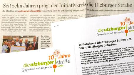 Pressearbeit für den Initiativkreis Ulzburger Straße (Norderstedt) >>