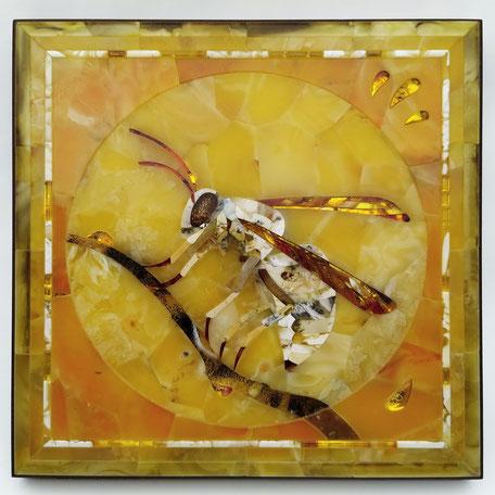 янтарная флорентийская мозаика, янтарь