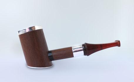 Трубка курительная с янтарём