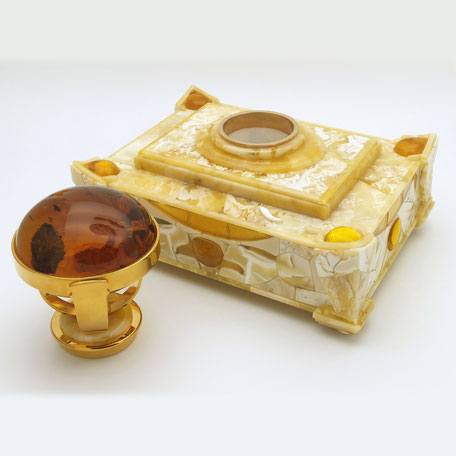 Stand clerical print amber decoration. 2018