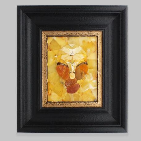 Baltic amber,  unique,  mosaic, natura,l Kaliningrad, workshop, églomisé