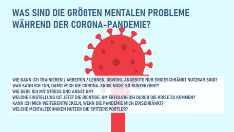 Mentale Probleme für Athleten und Coaches während Corona-Pandemie