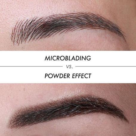 Vergleich Microblading - Powderbrow