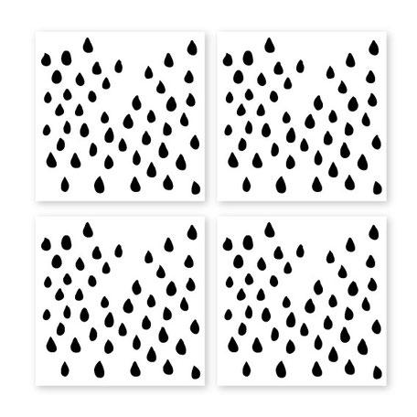 "Fliesenaufkleber ""raindrops"""