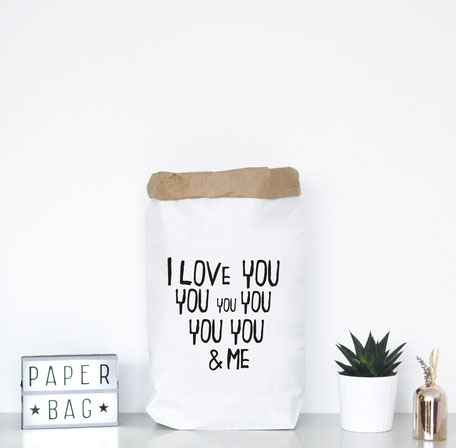 "Paperbag ""I love you and me"""