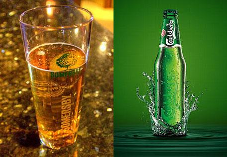 Somersby Cider  /  Carlsberg Pilsner