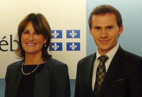 Rencontre avec la ministre Kathleen Weil en octobre 2014 dans le cadre du comité d'action politique France-Québec (CAP FQ)
