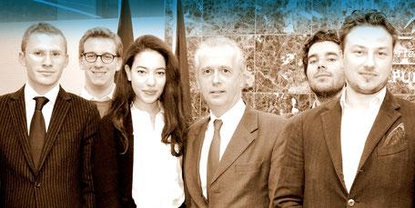 Une partie de la Délégation du projet DéFi (Benjamin Boutin, Antoine Lafon, Armelle Naouri, Nawel Bellour, Bastien Gautier) avec le Consul de France à Montréal