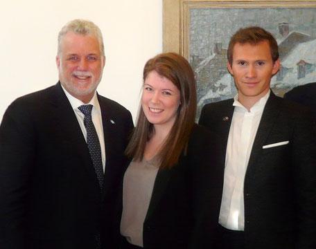 Le 9 octobre 2014, rencontre avec Philippe COUILLARD, accompagné par la présidente (section Québec) du Comité d'action politique France-Québec, Laurie BOUCHARD