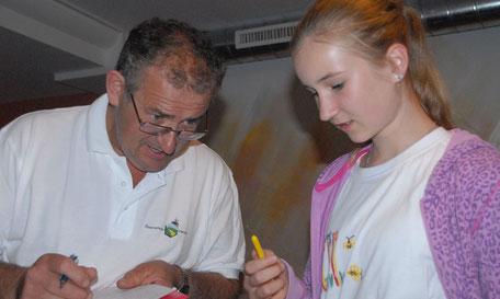 Elena Strasser beim praktischen Prüfungsteil 2016
