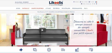 Canapé Likoolis pour optimisation seo d'un site de convertibles par e-cime.fr