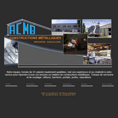 site ACMB avant la refonte par e-cime création de site web optimisé référencement