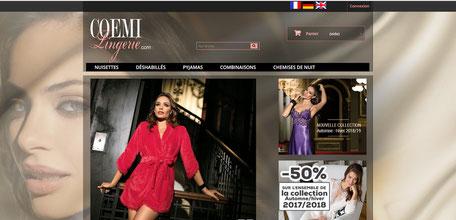 femme avec nuisette violette pour optimisation seo d'un site de lingerie par e-cime.fr