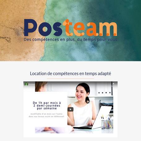 site posteam après refonte par e-cime création de site web optimisé référencement