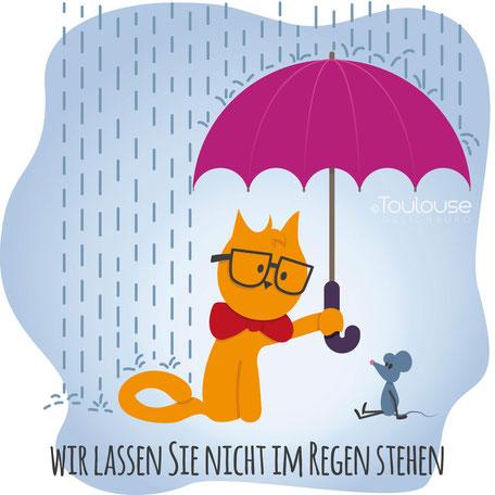 Toulouse Designbüro - Wir lassen Sie nicht im Regen stehen - Grafikdesign auf Sie abgestimmt