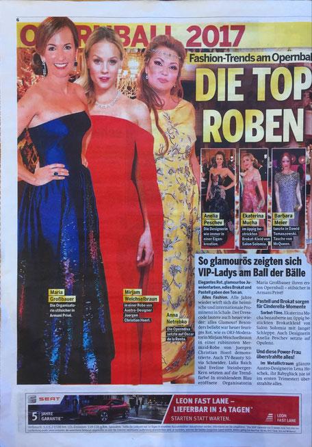 Fashion Mode Austria Austrian Designer Ballkleid aus Wien Opernball 2017