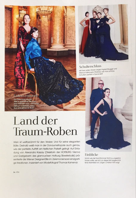Fashion Mode Austria Österreich Designer Abenkleid aus Wien