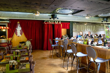 Restaurant mit Kinderkino