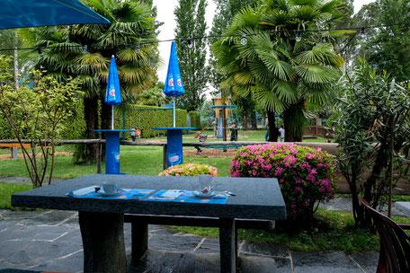 familienrestaurant campingdelta locarno terrasse mit Ausblick