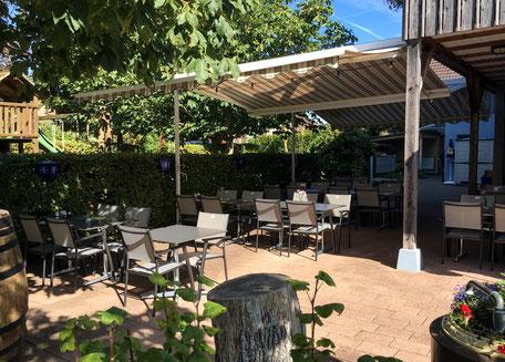 kinderfreundliches Restaurant mit Terrasse und Spielplatz
