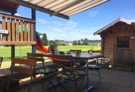 Spielplatz für Kinder im Familien-Restaurant le Jardin