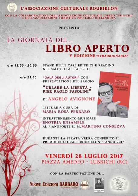 """Lubrichi- """" La Giornata del ... Libro aperto""""  V edizione"""