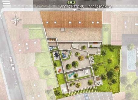 Plan Masse de l'ensemble Immobilier Neuf à Bordeaux