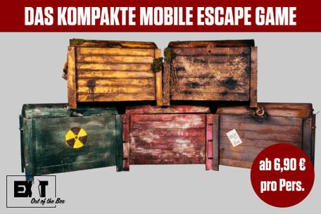 EXIT out of the BOX Mobile Rätselboxen günstig mieten Hessen