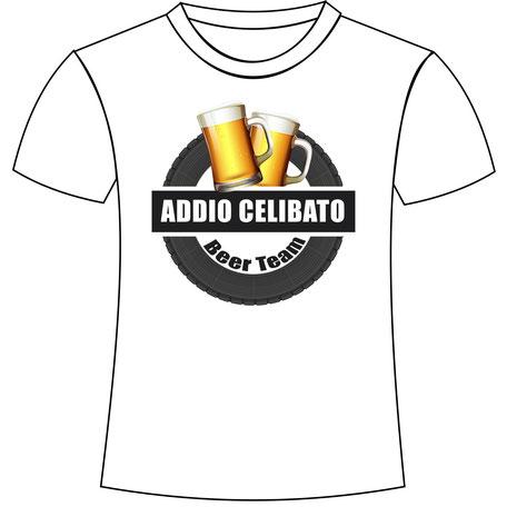 Maglietta personalizzata per gli amici dello sposo per la festa di addio celibato