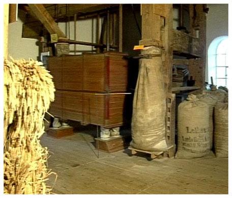 Historische Windmühle Sprengel Mahlwerk