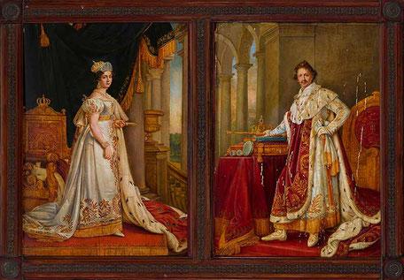Die Eltern: König Ludwig I. und Königin Therese von Bayern