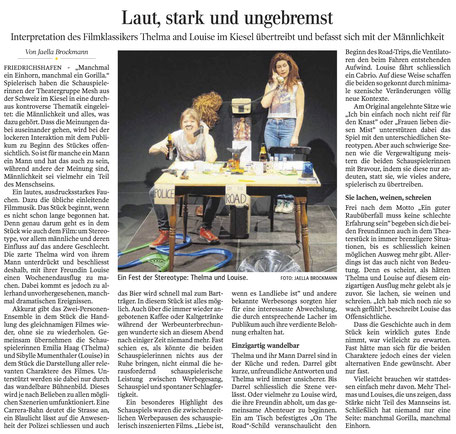 Schwäbische Zeitung, 27. Januar 2017
