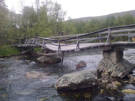 Helags Husky, Brücke vorher