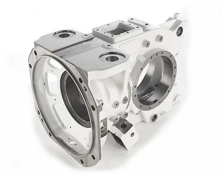 Gussgehäuse für Getriebe einer Bremsanlage aus der Eisenbahntechnik